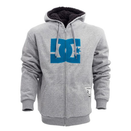 cfd11128 Sweatshirt All Star Sherpa colore Grey Blue - Dc Shoes - SportIT.com