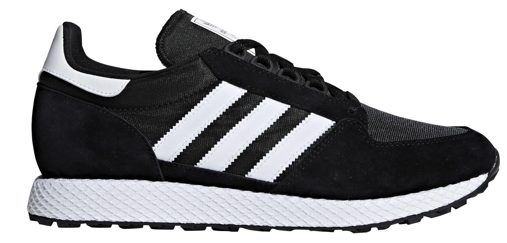 sale retailer b5f05 0a466 Mens Shoes Forest Grove colore Black White - Adidas Originals - SportIT.com