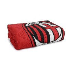 Single Quilted bedcover Milan red black