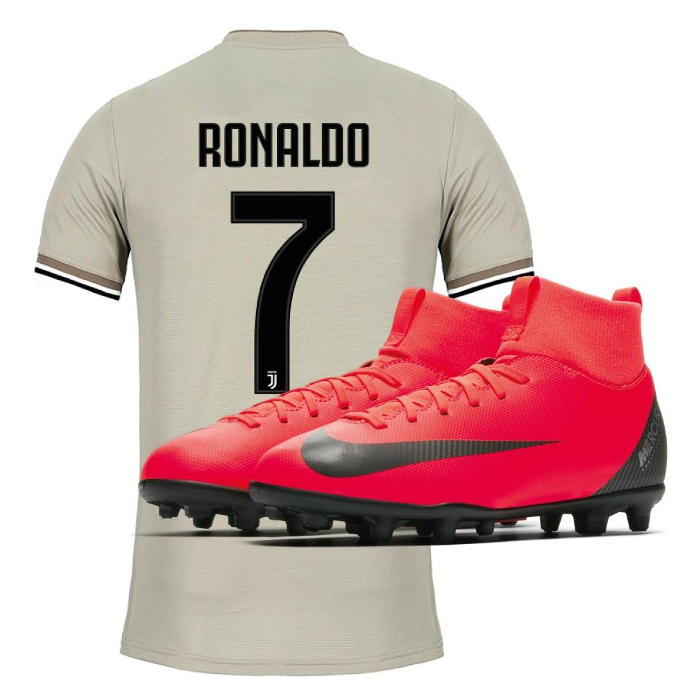 f3791ba045d88 Jersey Juve Away jr 18 19 Cristiano Ronaldo + Soccer Shoes Child Nike  Mercurial Superfly VI Club CR7 MG Built on Dreams Pack - Adidas -  SportIT.com