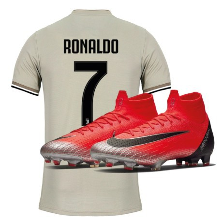 promo code b1802 4228d Jersey Juve Away 18 19 Cristiano Ronaldo + Soccer Shoes Nike Mercurial  Superfly VI Elite CR7 FG Built On Dreams Pack - Adidas - SportIT.com