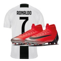 Maglia Juve Home 18/19 Cristiano Ronaldo + Scarpe Calcio Nike Mercurial Superfly VI Elite CR7 FG Built On Dreams Pack