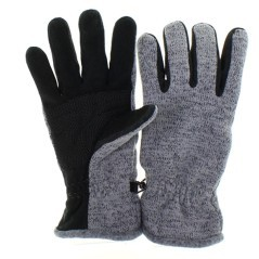 Gloves Fleece knit, gray black