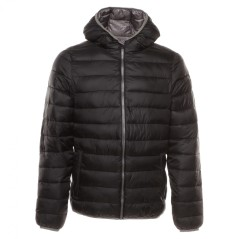 Jacket Man Casual Tech Fill, black-grey color, front
