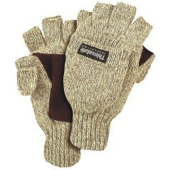 Gloves Thinsulate fingerless grey variant 1
