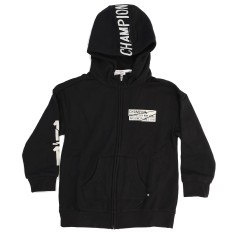 Hoodie Child Full Zip,color black