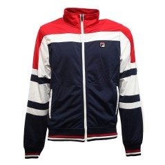 Men's sweatshirt Full Zip Triacetate blue red