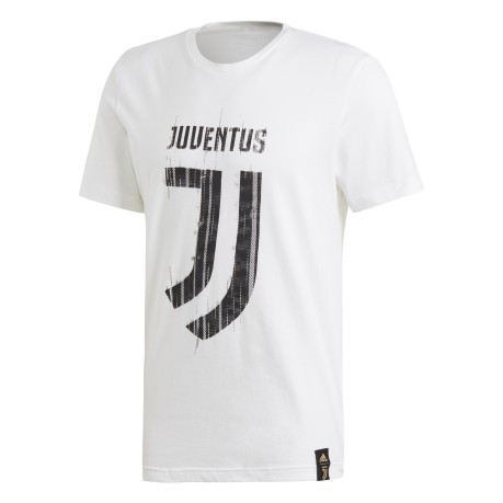 608964620e6 T-shirt Juve DNA Graphic 18 19 colore White - Adidas - SportIT.com