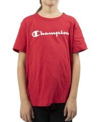 Junior T-Shirt with Written Logo red