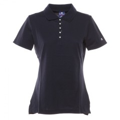 Damen Polo Light Piqué-weiß