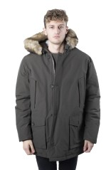 Jacket Parka Men With Fur green