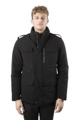 Down jacket Man's Field Effect Cotton black