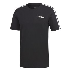 T-Shirt para hombre Essentials 3-Stripes blanco negro