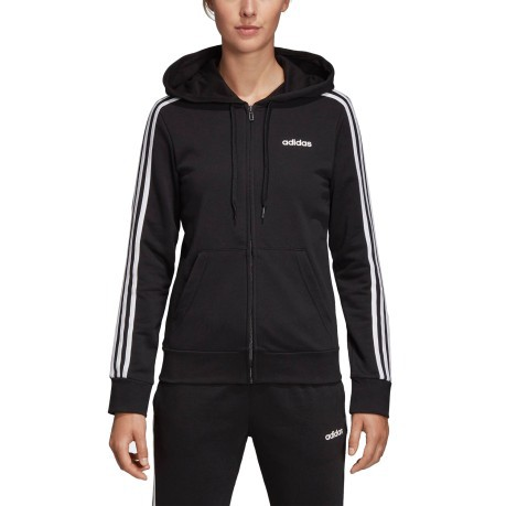 Nero 3 Bianco Colore Adidas Essentials Core Stripes Felpa Donna Yxwtvqtz