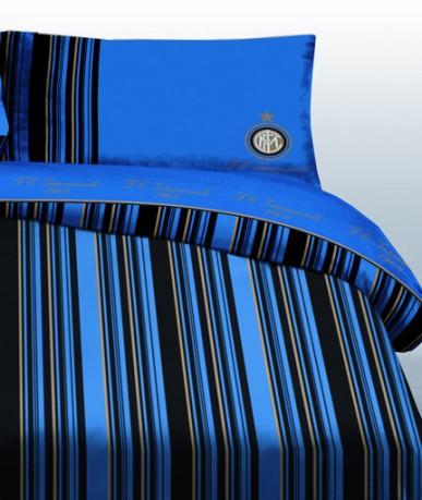 Copripiumino Inter.Duvet Cover Single Inter Colore Light Blue Black Uniontex