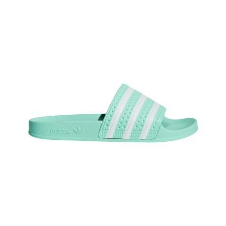 new style 43834 1106b Slippers Womens Adilette green white
