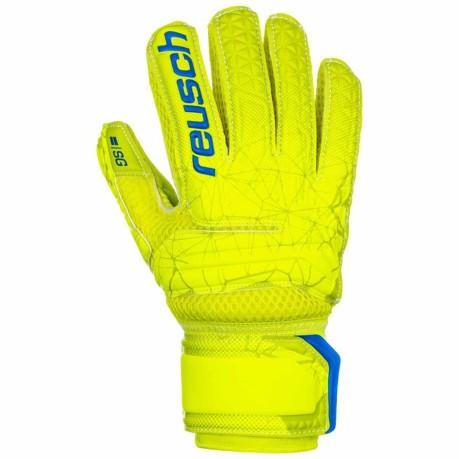 652982d0b34 Goalkeeper gloves Child Reusch Fit Control SG Extreme Finger Support colore  Yellow Light blue - Reusch - SportIT.com
