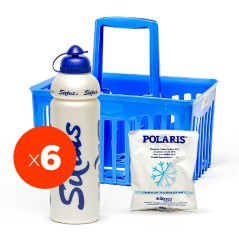 Combo Sixtus 1 Basket/6 Water Bottles/5 Instant Ice Pack