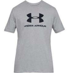 T-Shirt Men UA Sportstyle black at the front