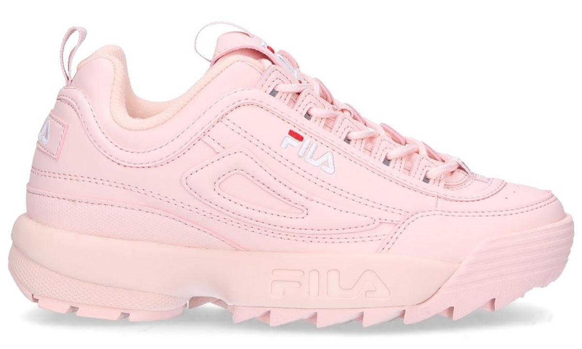 scarpe fila rosa con sotto bianco
