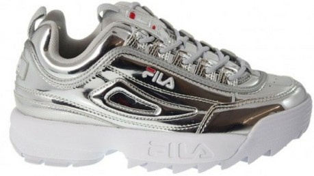 Shoes Disruptor M Low colore Silver