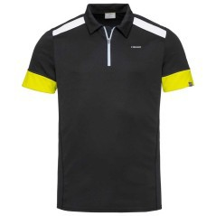Men Polo Golden Slam black yellow