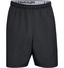 Short UA Woven Graphic Wordmark fronte 2 grigio