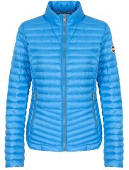 Down jacket Lightweight Women's Rounded Bottom blue