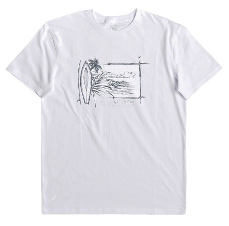 T-shirt Waterman Simple Lines bianco