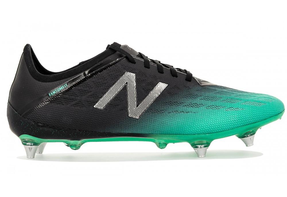 Dettagli su Scarpe Calcio New Balance Furon V5 Pro 5 SG Black Green Pack New Balance