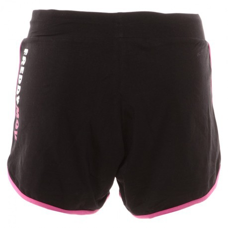 Short Donna Jersey Stretch rosa nero