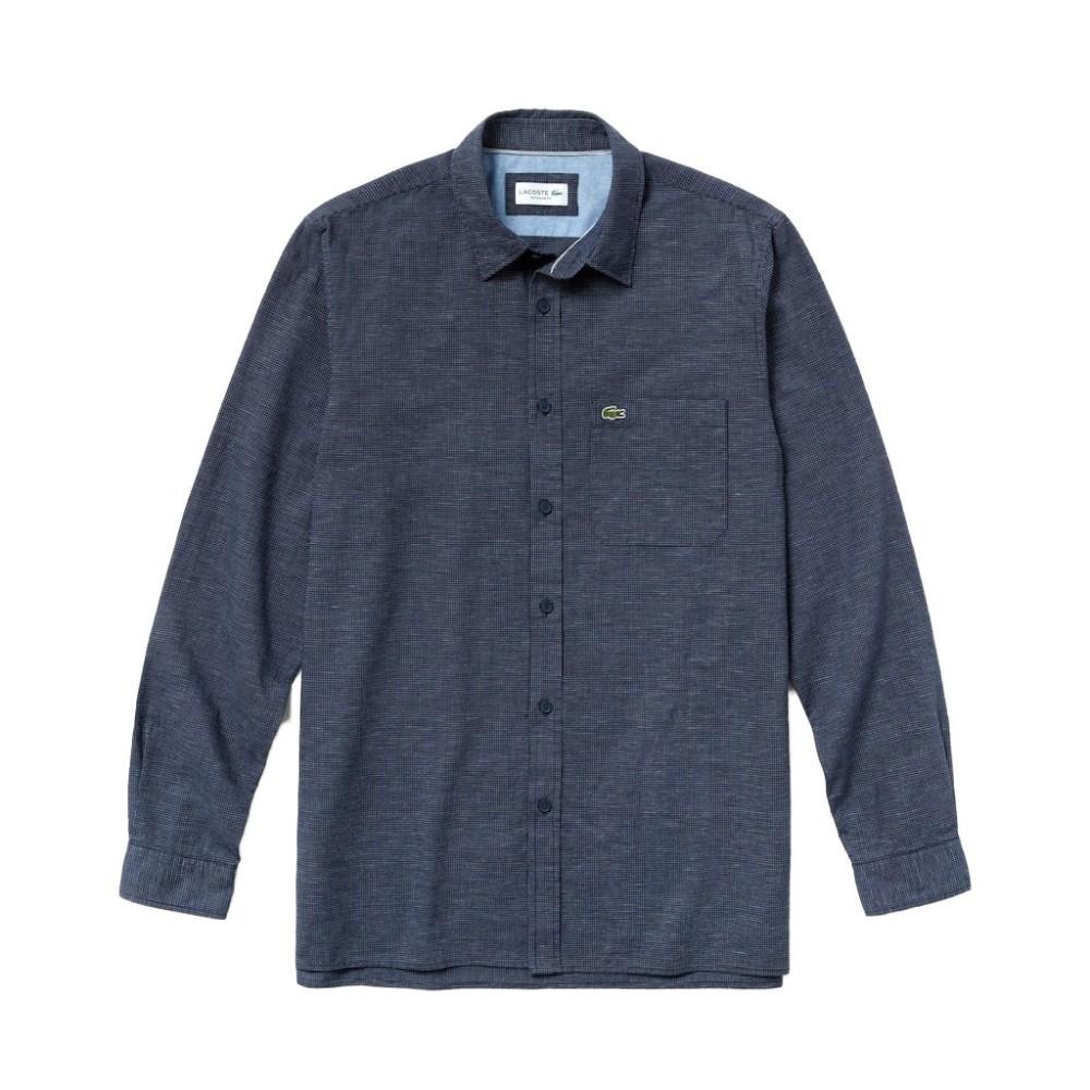 Camicia herren Cotone Lino Lacoste