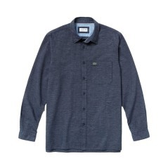 Man shirt Cotton Linen blue