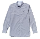 Homme shirt Botton Bas bleu