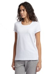 T-Shirt Woman Train white Logo