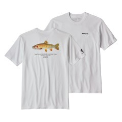 T-Shirt Greenback Cutthroat World Trout bianco
