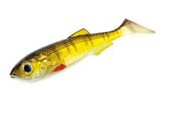 "Artificial RT Shad 4.5"" green gold"