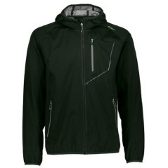 Jacket Trekking Man Fix Hood Extralight green