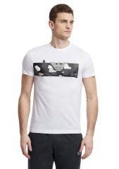 T-Shirt mens Train Graphic Camou black
