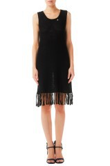 Dress Woman Crochet Fringe