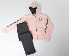 Suit Baby Sweatsuit pink gray