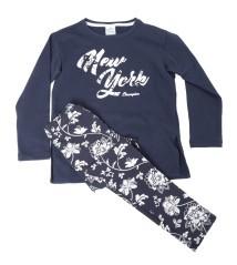 Baby Trainingsanzug Aus Baumwolle colore blau grau