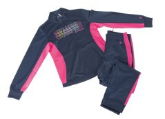 Suit Little Girl Back To School Poly Full Zip
