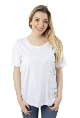 T-Shirt Donna Lady Tee Light Jersey bianco