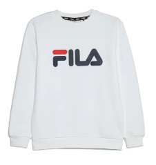 Felpa Junior Classic Logo Crew Sweat bianco