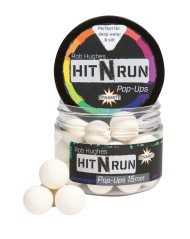 Boilies Pop-Ups Hit N Run White 15 mm