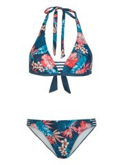 Costume Donna Showcase Bikini Triangolo fantasia blu