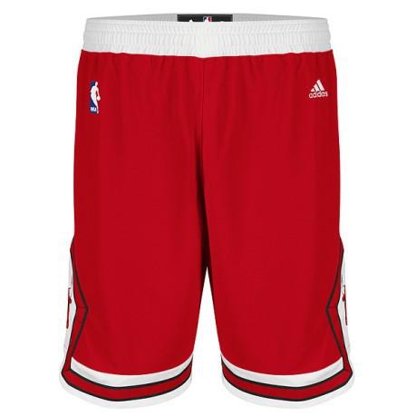 Short ufficiali uomo NBA Chicago Bulls colore Rosso Bianco - Adidas ... dd5fdc1bcfc5
