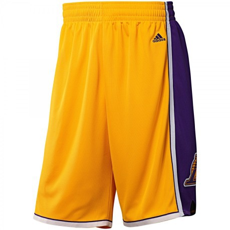 Short official NBA Los Angeles Lakers colore Yellow Violet - Adidas ... f911262d8d09