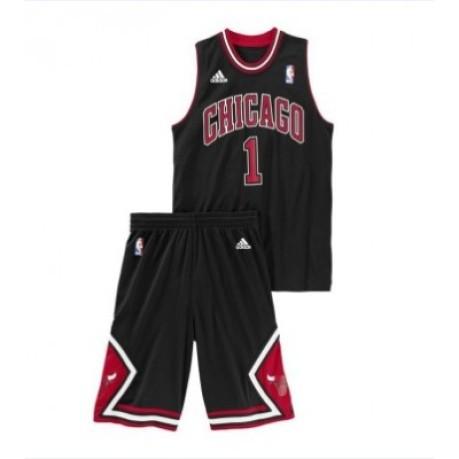 Full official Chicago Bulls Rose Jr colore Black Red - Adidas ... 390e79163c4b